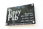 Вывеска для паба The Tipsy Pub